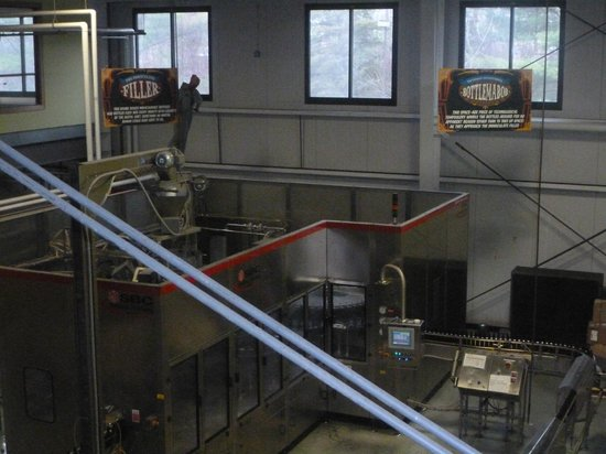 Magic Hat Brewing Company: A view of the beer production