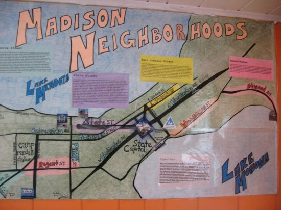HI-Madison Hostel: Map in the hostel