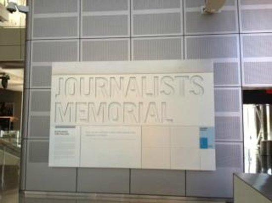 Newseum: Journalist Memorial