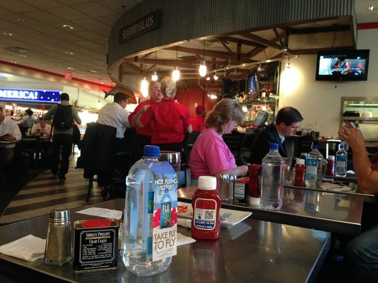 Phillips Famous Seafood: View from the table