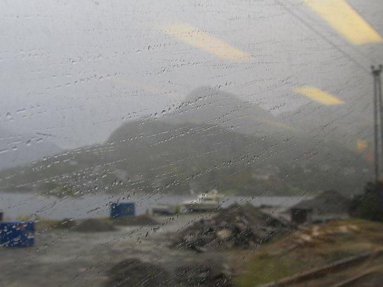 The Bergen Railway: raining