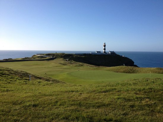 Old Head of Kinsale: View over the 18th.