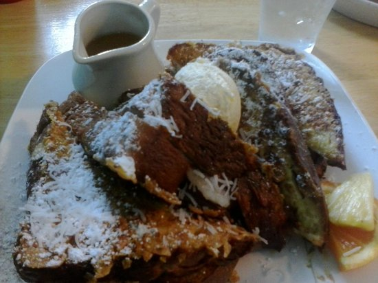 Oceans Apart: Stuffed french toast with pineapple syrup