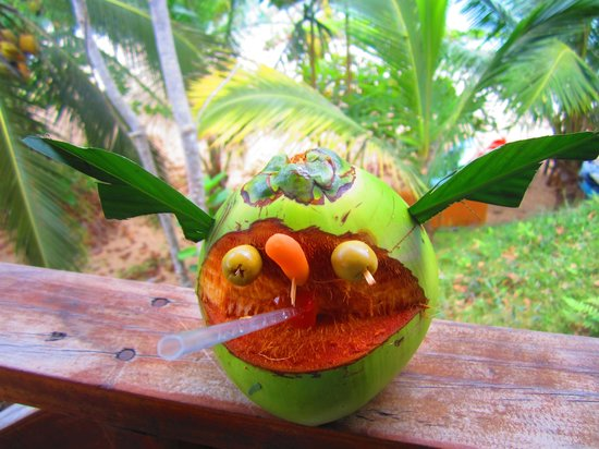 Popa Paradise Beach Resort: Welcome coconut drink