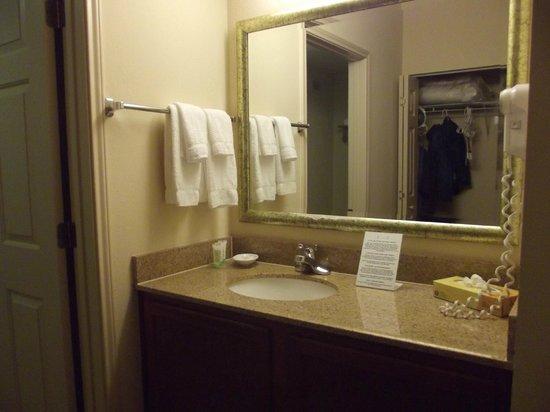 Staybridge Suites New Orleans: sink outside the bathroom