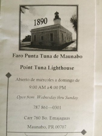 Tuna Point Lighthouse: Information