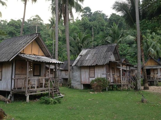 Siam Hut Koh Chang : the bungalows (huts)
