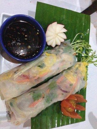 Aqua Bar & Grill - Bakery: crab Vietnamese rolls