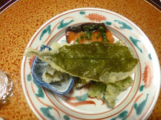 Awatasanso: Yakimono: Roasted buds trout