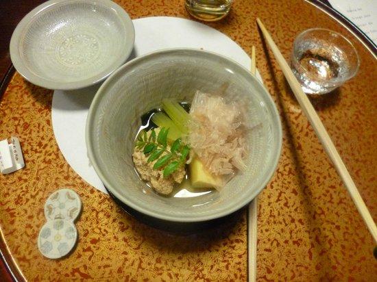 Awatasanso: Takiawese: Bamboo shoot, roe of walleye pollock, seaweed