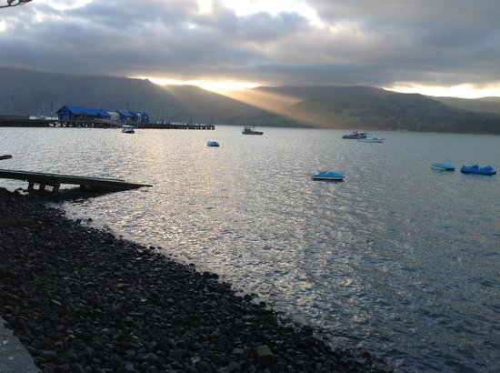 Akaroa on the Beach: Akaroa sunset