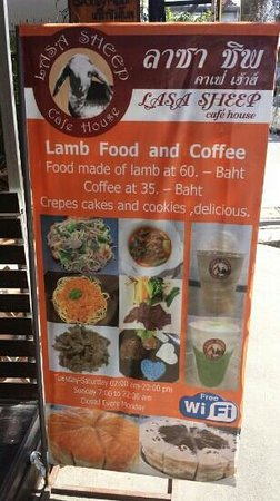 Lasa Sheep Cafe House : look for the sign out front