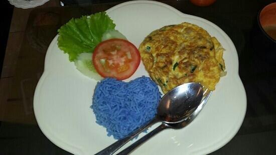 Lasa Sheep Cafe House: lamb omlete with blosom rice