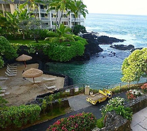 Royal Kona Resort : View from our room 360 in the Lagoon tower
