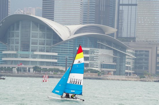 Former Kowloon-Canton Railway Clock Tower: Sailing activities near the Ferry Port