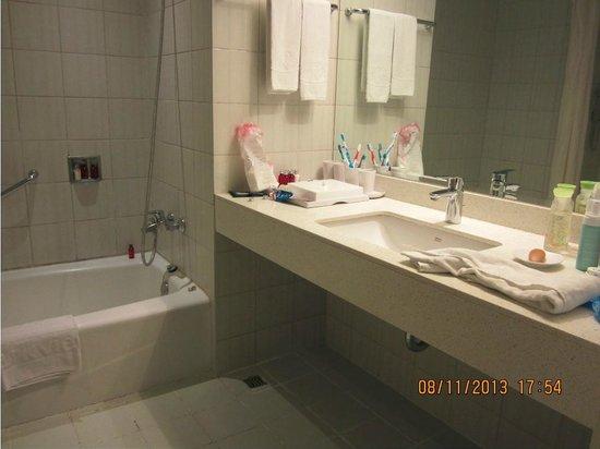 Parkview Hotel: Toilet & Bathtub area