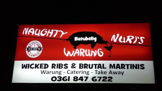 Naughty Nuri's: here you go, the logo. Don't miss it
