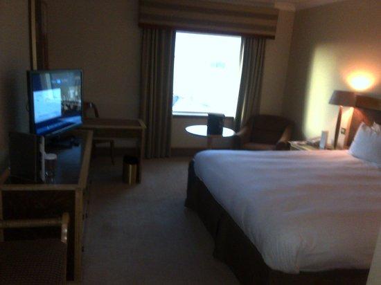 Hilton Glasgow: Room view internal 13th floor