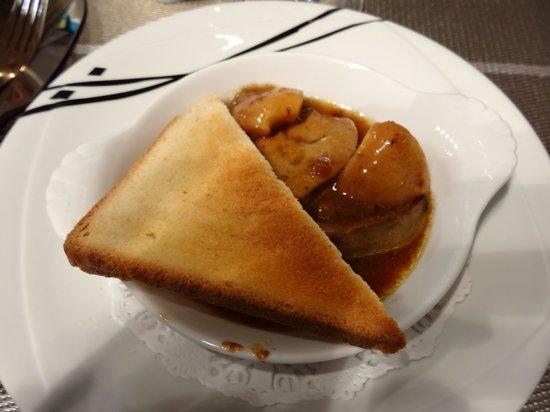 Restaurant Cidrerie Auberge du Chapelet : foie frais aux pommes