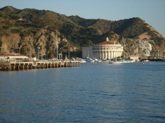 Catalina Island Casino Ballroom: view while kayaking in the harbor