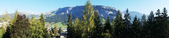 Sunstar Alpine Hotel Flims: view from our corner room