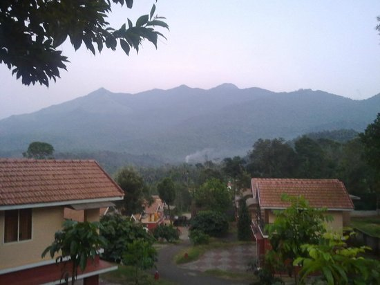 Vythiri Meadows: View of the Chembra peak from the villa