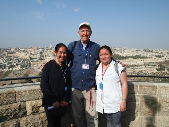 Israel Private Tours: Mt. of Olives with Moti and my daughter