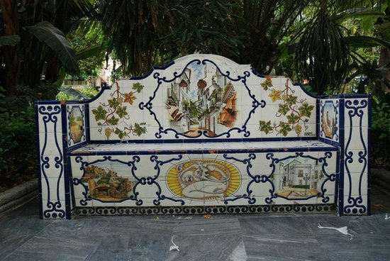 Panchina Giardino Alameda - di  Fronte  Hotel San Cristobal