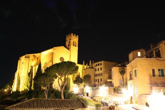 Albergo Bernini: View from terrace at night - stunning