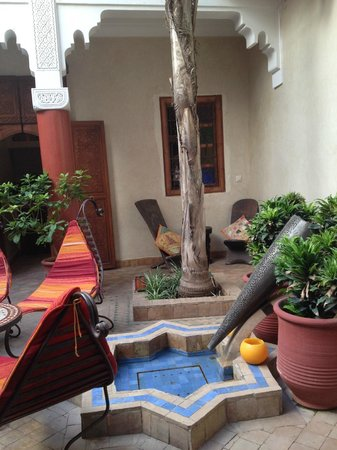 Riad Shalimar : patio