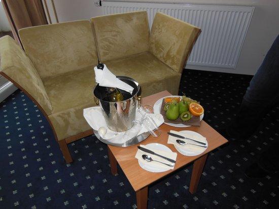 Wildpark Hotel : Sehr schöne Begrüßung im Zimmer
