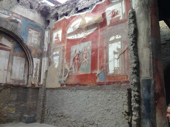 Ruins of Herculaneum: Inside one of the houses
