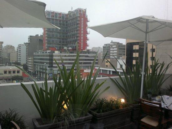 Tierra Viva Miraflores Larco: Вид из ресторана отеля