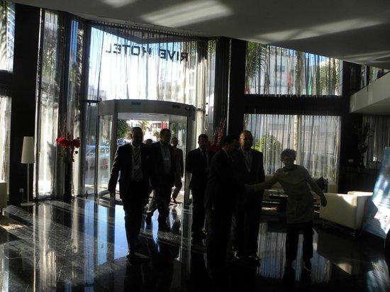 Rive Hotel: Mr Ministre de la communication à Rive hôtel le14/11/13 à l'occasion de la J. Mondiale.Communica