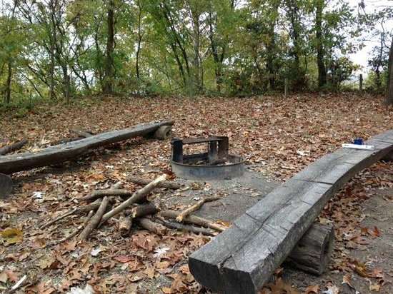 Fort Pillow State Park: backcountry trail campsite