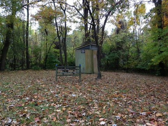 Fort Pillow State Park: backcountry trail privy