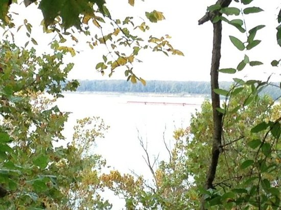 Fort Pillow State Park: view from backcountry trail