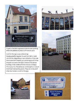 Best Western Jorgensens Hotel: Photos to show how to access hotel parking lot