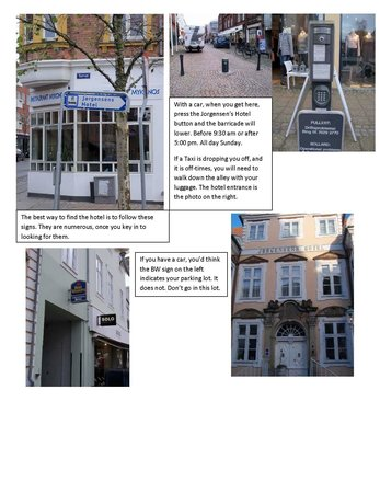 Best Western Jorgensens Hotel: Photos to show how to access front of hotel