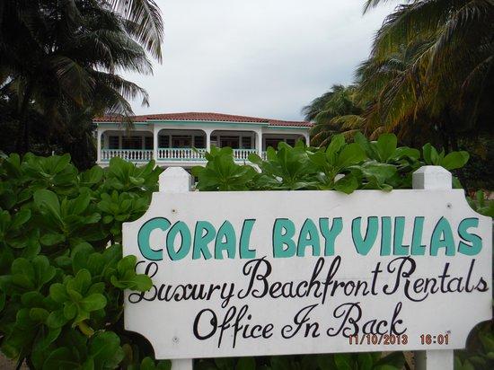 Coral Bay Villas: Beach view sign  Nov 2013