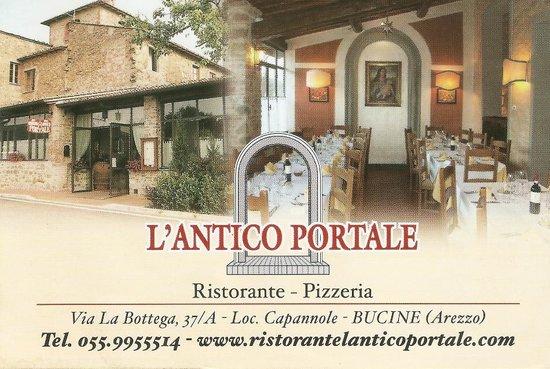 Bucine, Italien: Ristorante Pizzeria L'Antico Portale