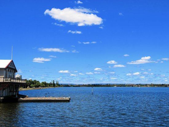The Lucky Shag Waterfront Bar: View over Swan River