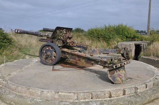 Batterie de Maisy : One of the gun emplacements