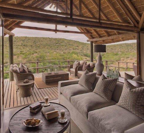 Kwandwe Great Fish River Lodge: Great Fish River Lodge main guest lounge