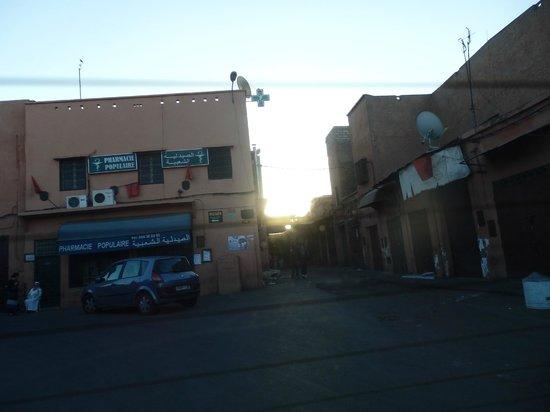 Riad Dar Mchicha : arrivo con taxi