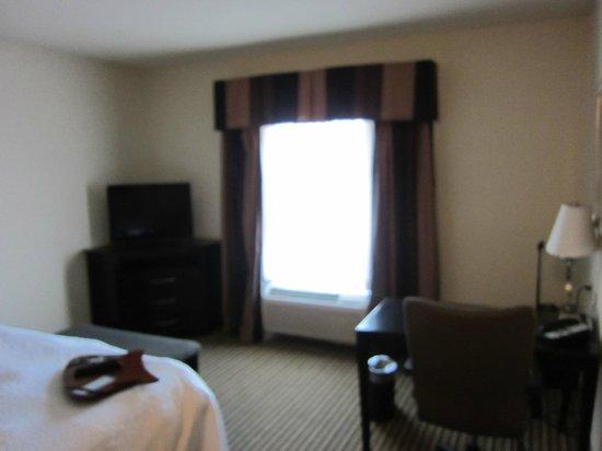 Hampton Inn & Suites Childress: tv and desk