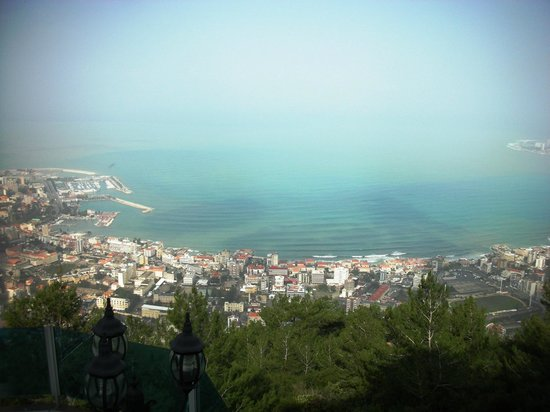 Bay Lodge Boutique Hotel: View of Jounieh Bay from hotel