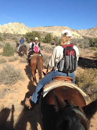 Snow Canyon Trail Rides : the return trip from inside the canyon