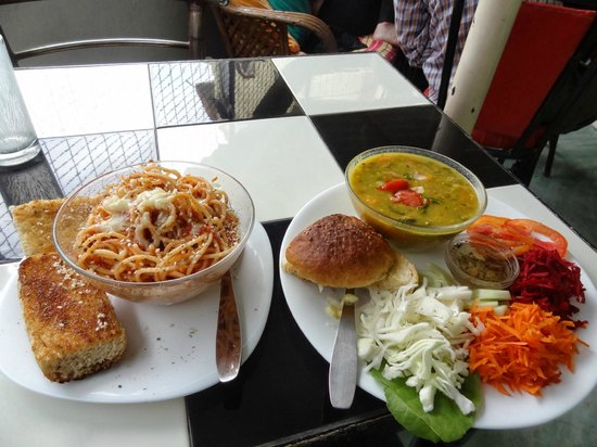 Typical lunch Aum Cafe Varanasi Assi Ghat YUM!