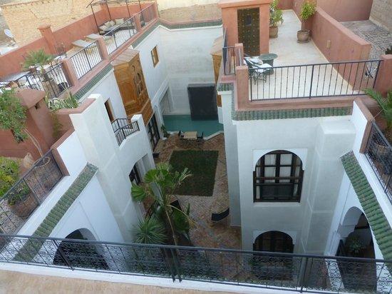 Riad Dar Nimbus: vu de la terrasse